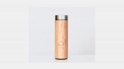 Edgar's RVS & Bamboo tea thermos